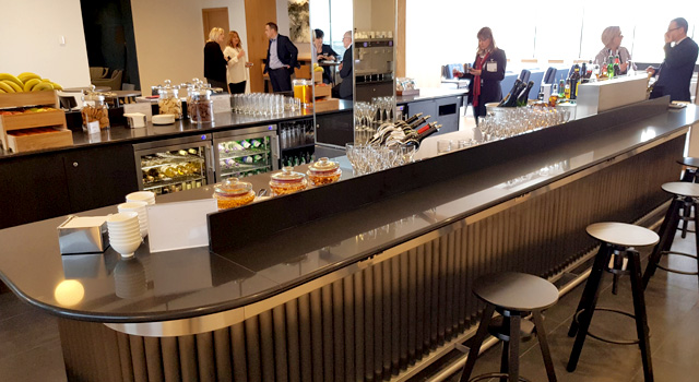Our design also had to deliver a high-quality self and assisted service drinks bar