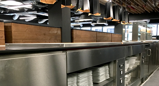 ScoMac helped Cirrus Logic realise the look feel and capabilities of the kitchen and servery space.