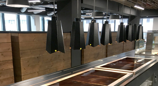 The staff catering facility at the Cirrus Logic QuarterMile premises
