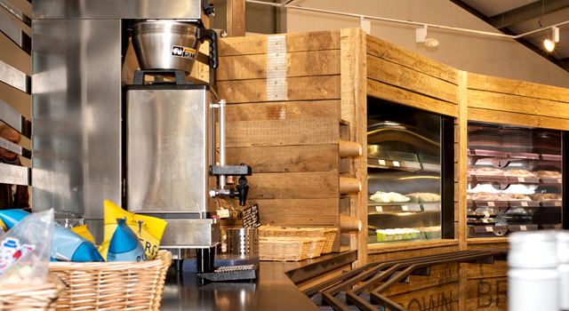 The servery area design accommodated the client's environmental concerns, minimising the new building's carbon footprint