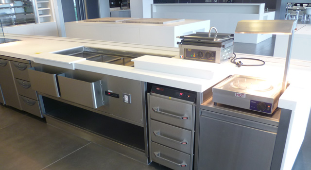 ScoMac provided cost-saving options through our custom kitchen fabrication and bespoke servery counters